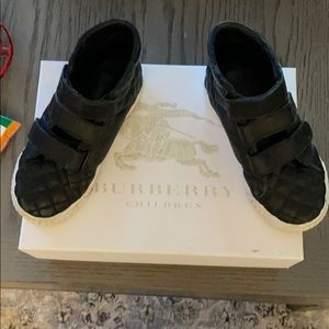Burberry Boys High Tops Leather Sneaker 11US